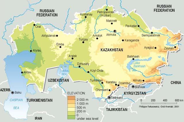 Montes Altai Mapa Fisico.Naturaleza En Kazajstan Turismo Kazajistan